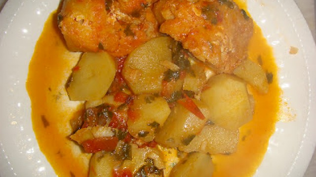 Cod with potatoes