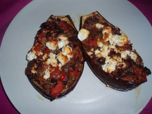 Eggplant stuffed with cheese